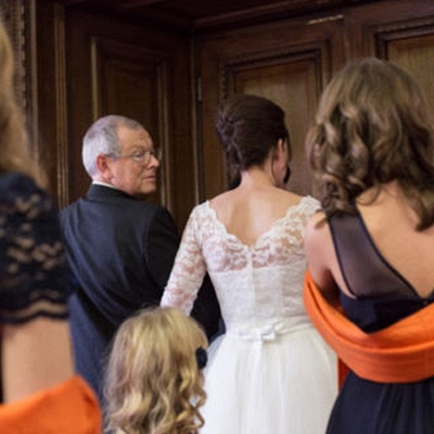 Weiß Brautkleider Kurz Mit Spitze Lang Ärmel Hochzeitskleider_2