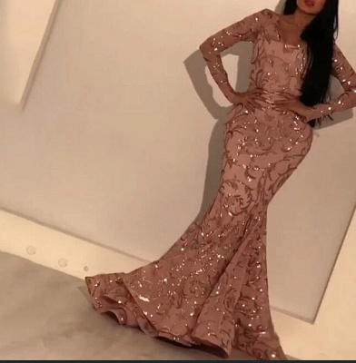 Luxury prom dresses glitter | Evening dresses gold with sleeves_5