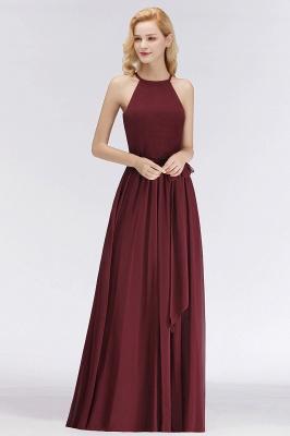 Designer Brautjungfernkleider Lang Chiffon Dunkel Rot Kleider für Brautjungfern_2