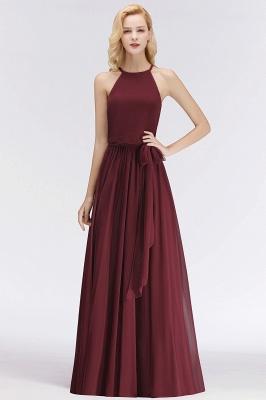 Designer Brautjungfernkleider Lang Chiffon Dunkel Rot Kleider für Brautjungfern_3