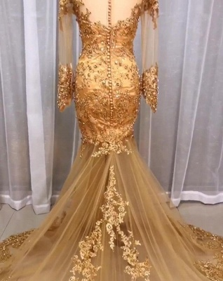 Luxury Wedding Dresses Lace Gold | Wedding dresses with sleeves glitter_3