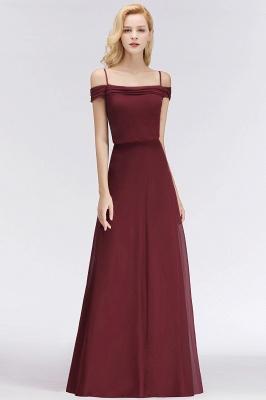 Elegant bridesmaid dresses burgundy chiffon sheath dresses for bridesmaids online_3