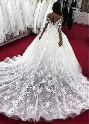 Fashion Brautkleider Mit Ärmel | Günstige Hochzeitskleider Spitze Prinzessin_3