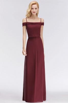 Elegant bridesmaid dresses burgundy chiffon sheath dresses for bridesmaids online_2