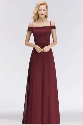 Elegant bridesmaid dresses burgundy chiffon sheath dresses for bridesmaids online_1