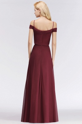 Elegant bridesmaid dresses burgundy chiffon sheath dresses for bridesmaids online_5