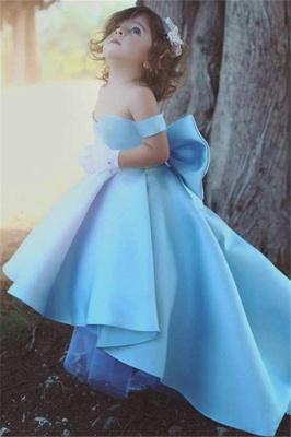 Liebe Baby Blau Kleider für Blumenkinder Günstig Blumenmädchenkleider_2
