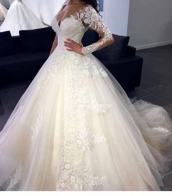 Luxury Brautkleider Mit Ärmel Prinzessin Günstig Hochzeitskleider Spitze_1