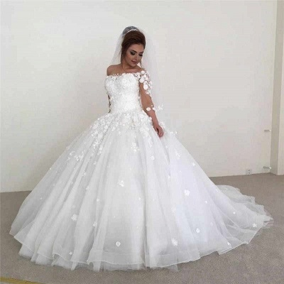 Modern wedding dresses with sleeves | Wedding dresses a line with lace_3