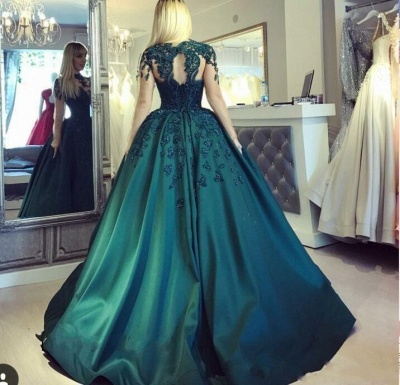 Elegant evening dresses long green | Floor length prom dresses online_2