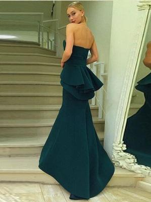 Dunkel Grün Lange Abendkleider Günstig Meerjungfrau Abiballkleider Abendmoden_2
