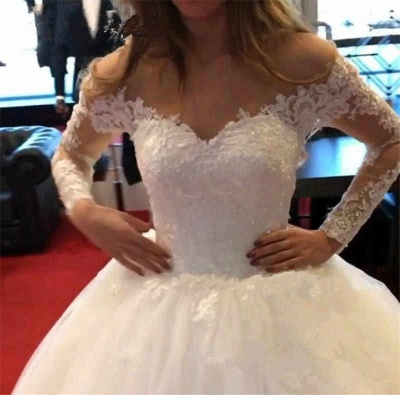 Designer wedding dresses with sleeves | Wedding dresses with lace online_5