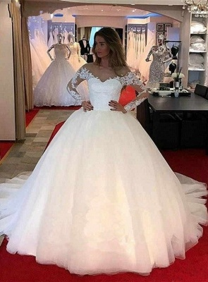 Designer wedding dresses with sleeves | Wedding dresses with lace online_1