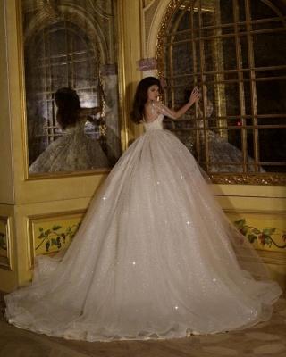 Luxury wedding dress with sleeves | Princess wedding dress with glitter_3