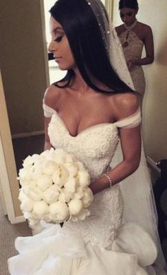 Elegante Brautkleider Mit Spitze Meerjungfrau Organza Hochzeitskleider Brautmoden_6