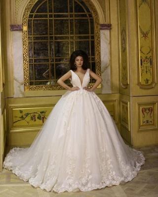 Modern Prinzessin Brautkleid Mit Spitze | Hochzeitskleid Günstig Online_1