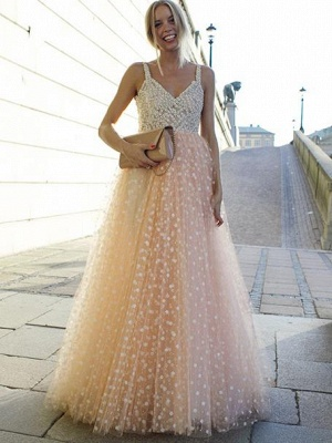 Elegant 2 Color Evening Dresses Long Cheap Lace A Line Evening Wear Online_1