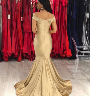 Fashion champagne evening dresses long cheap simple evening wear online_2