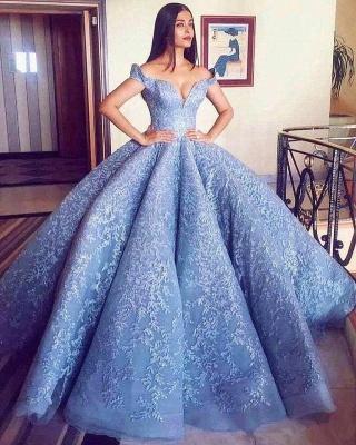 Luxus Abendkleider Blau | Abiballkleider Lang Günstig Online_3