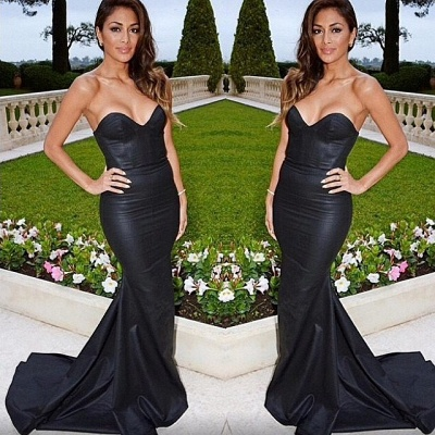 Black evening dresses prom dresses heart mermaid evening wear prom dresses_2