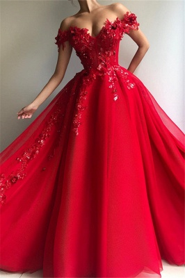 Elegant Long Prom Dresses Cheap | Red evening dresses online_1