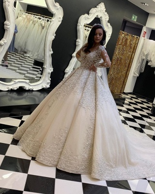 Luxury wedding dresses with lace | Wedding dresses with sleeves online_2
