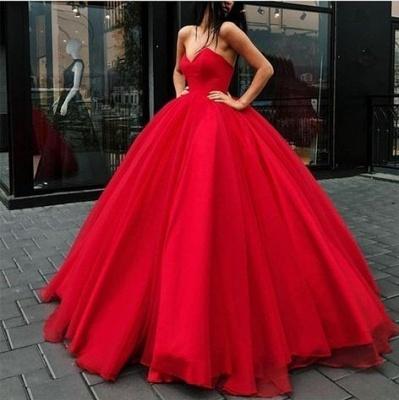 Fashion Rote Abendkleider Lang Günstig Prinzessin Organza Abendkleid Abiballkleider_1