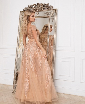 Luxury evening dresses with lace | Cheap prom dresses floor length_2