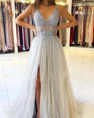 Elegant Silver Evening Dresses Online | Prom Dresses Sheath Dresses Online_2
