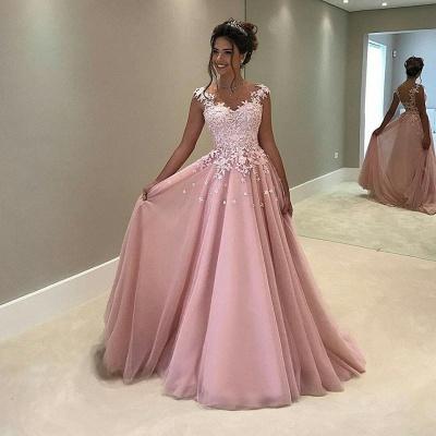 Elegant Abendkleider Lang Rosa Abendmoden Abiballkleider_2