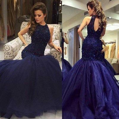 Blue prom dresses long princess tulle evening wear party dresses_2