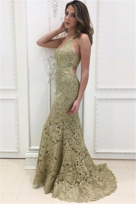 Elegant golden evening dresses long cheap lace evening dresses prom dresses online_2