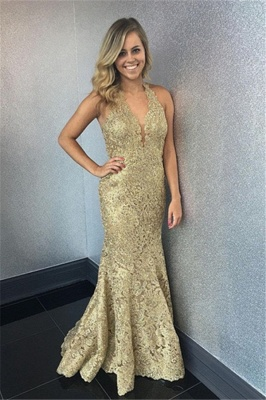 Elegant golden evening dresses long cheap lace evening dresses prom dresses online_1