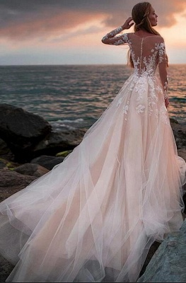 Luxury wedding dresses with sleeves | Wedding dresses a line with lace_2