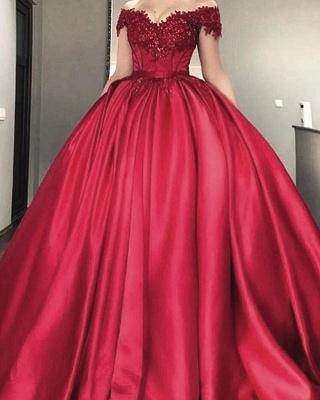 Buy designer red wedding dresses with lace princess wedding dresses online_1