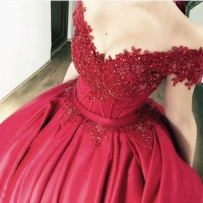 Buy designer red wedding dresses with lace princess wedding dresses online_3