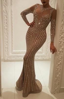 Luxus Abendkleider mit Ärmel | Abiballkleider Lang Glitzer_1