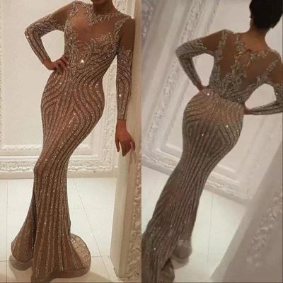 Luxus Abendkleider mit Ärmel | Abiballkleider Lang Glitzer_3