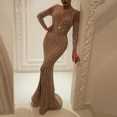 Luxus Abendkleider mit Ärmel | Abiballkleider Lang Glitzer_2