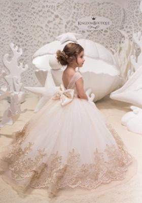 Designer Prinzessin Blumenmädchenkleider Spitze | Kleider für Blumenmädchen_2