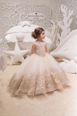 Designer Prinzessin Blumenmädchenkleider Spitze | Kleider für Blumenmädchen_1
