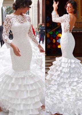 Modern Brautkleider Mit Ärmel Spitze Hochzeitskleider Günstig Online_1