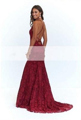 Fashion Abendkleid Lang Rot   Abiballkleid Spitze Günstig Online_4