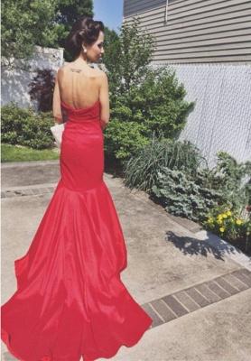 Rot Abschlussballkleider Abendkleider Lang Meerjungfrau Taft Abendmoden Partykledier_2
