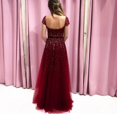 Elegante Abendkleider Lang Rot | Abiballkleider Bodenlang Online_2