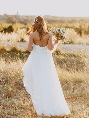 Elegante Hochzeitskleider Spitze und Schlicht Etuikleider Tüll Brautkleider_4