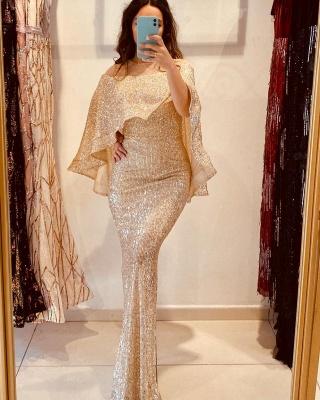 Abiballkleider Lang Glitzer | Abendkleider Gold Online_2