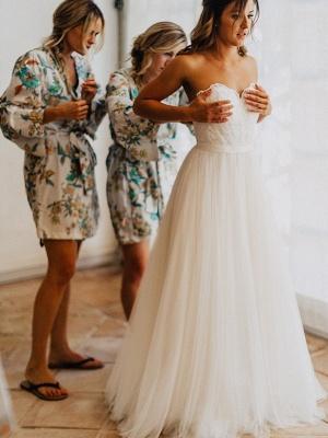 Elegante Hochzeitskleider Spitze und Schlicht Etuikleider Tüll Brautkleider_5