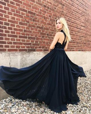 Fashion Abendkleider Lang Chiffon | Abendmoden mit Spitze_2