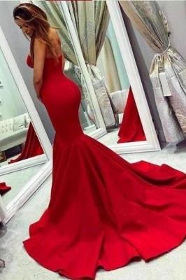 Schlichte Abendkleider Lang Rot | Abiballkleider Abendmoden Online_2